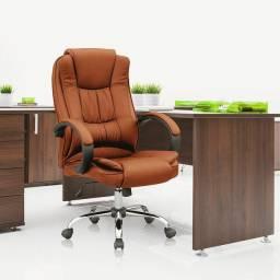 Cadeira Presidente Giratória Marrom