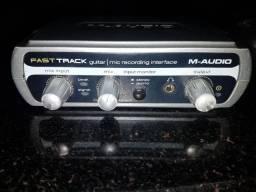 Placa de som  m audio fast track