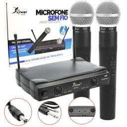 Microfone Sem Fio Profissional Knup KP-912