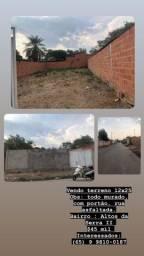 Vendo terreno todo murado 12x25