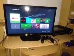 Vendo tv 24 Xbox one completo com 1 controle