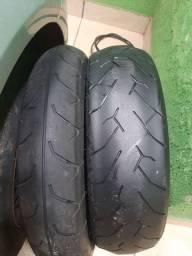 Vendo pneus para cb300 Riscados usados bons de borracha