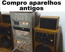 aparelho de som antigo toca discos tape deck amplificador receiver equalizador