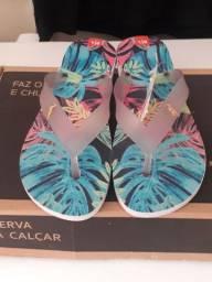kit 5 pares de sandália reserva na caixa com etiqueta atacado