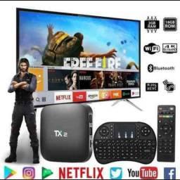 Vendo TV Box com todos os canais filmes e séries YouTube Netflix