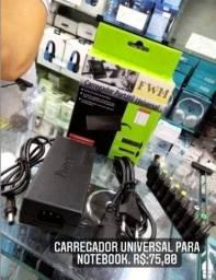 Carregador universal para noteboook e outros aparelhos
