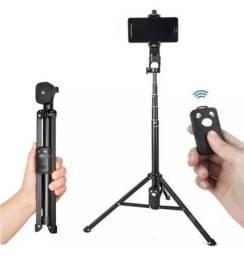 Bastão de Selfie SmartPhone 2 em 1 Bastão e Mini Tripé com Controle Remoto