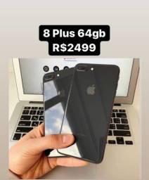 iPhone 8 Plus 64gb Preto - Aceito seu iPhone - Aceito Cartão