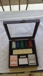 Maleta mini -poker com dominó
