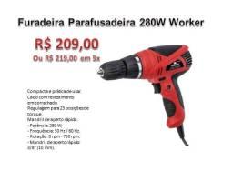 Furadeira Parafusadeira Elétrica Worker 3/8 280w FPW300