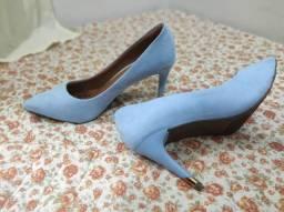 Scarpin Sapato Feminino Azul / Amarelo / número 38