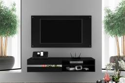 "Painel Combo R1056 Glass TV 50"" - 1,35 m, entrega rápida, Rio, Baixada e Niterói"