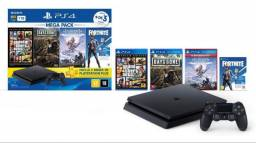 PlayStation 4 (ps4) slim 1TB + 4 jogos