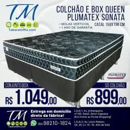 Conjunto Plumatex  Sonata Black  Queen Size, 26CM Molas Verticoil! 10x Sem Juros