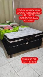 Vendo cama box, lavadora e rack
