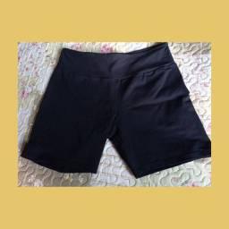 shorts bermuda fit preto e cinza