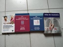 Livros área da saúde.
