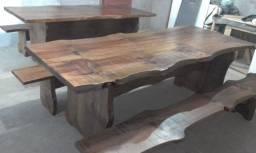 Mesas rústicas para churrasco