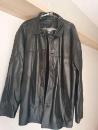 Jaqueta de couro masculina tamanho M