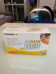 3 Frascos para coleta de leite Medela - caixa NOVA