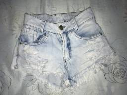 Short jeans curto 36