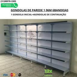 Gondolas para expor seus produtos. Gondulas de Aço
