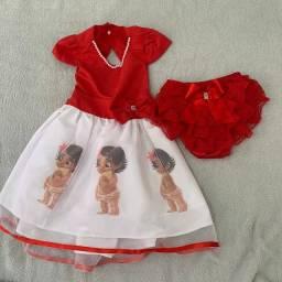 Vestido luxo da Moana 2 a 4 anos