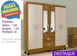 ** Catálogo completo via whats - Promoção Guarda Roupa Casal Espelho 6P 2G Real Light -