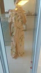 Vestido longo florido