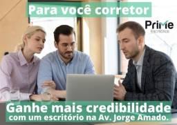 Escritório pronto e de baixo custo para consultores imobiliários