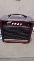 Amplificador e caixa de som Meteoro