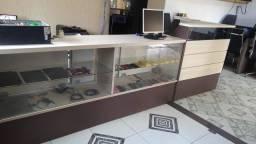 Balcão para loja ou call center 100% mdf  pouco uso !!! impressora , placa luminoso etc
