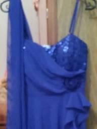 Vendo vestido meia canela com echarpe