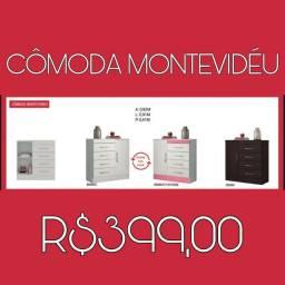 Cômoda c/4 gavetas Montevidéu PROMOÇÃO