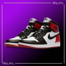 Tênis Nike Air Jordan -Vermelho, Preto e Branco