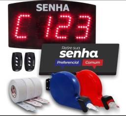 Kit 4.000 Senhas Com Preferencial Dispensadores Placa Painel