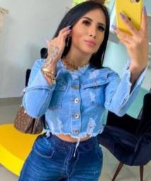 Jaqueta jeans croped