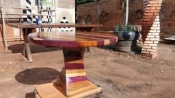 Mesa de madeira personalizada de roxinho