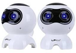 Kit 2 Caixa de Som  cachorro Robô para PC e Note USB Q900 - Branco<br>
