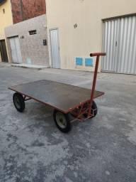 CARRO PLATAFORMA C/ BASE DE MADEIRA 600kg