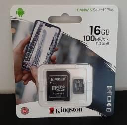 Cartão de memória MicroSD 16GB Classe 10 - NOVO