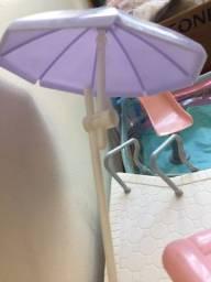 Barbie Família Piscina Splash E Escorregador - Ler Descrição