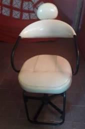 Cadeira cabeleireiro  branca