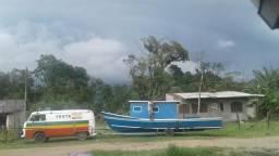 Barco pesca recreação 8mt doc marinha ok motor 11HP diesel - 2017