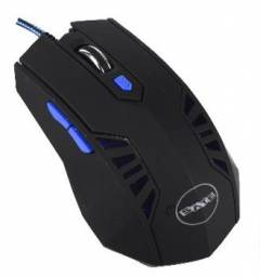 Mouse Gamer Satellite A-57 Vermelho ou azul Com 06 botões Novo Lacrado