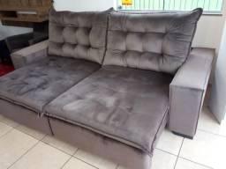 Sofá 2,60L retrátil e reclinável