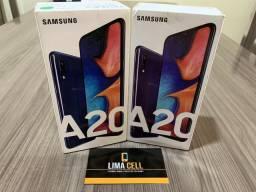 Samsung A20 32GB Azul, Novo/Lacrado, Display infinito, Nota Fiscal e Garantia