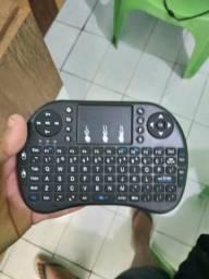Teclado com Mouse portátil de bolso serve pra PC notebook tvbox