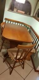 Mesa Canto Alemão com 2 Cadeiras