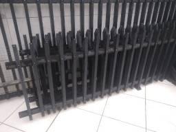 Grade para muro e portão preto